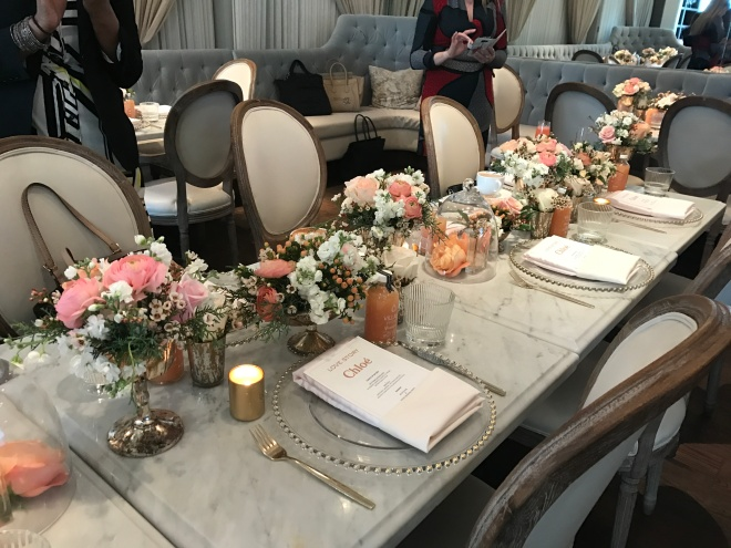 Colette Grand Cafe and Bakery - Toronto - such beautiful table settings - theme was roses