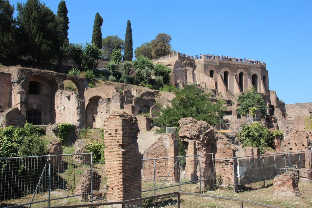 inside the Roman Forun