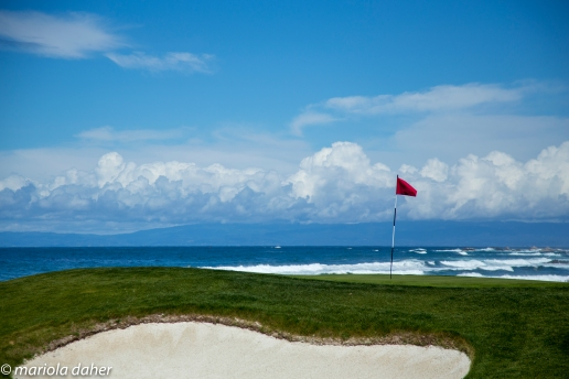 hole #1 at Spanish bay golf course