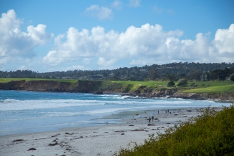 view of Pebble beach from Carmel by the sea