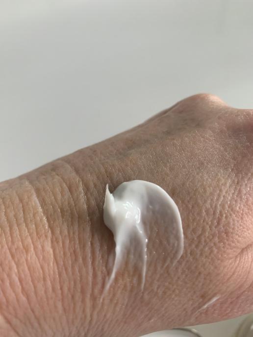 my hand before the cream