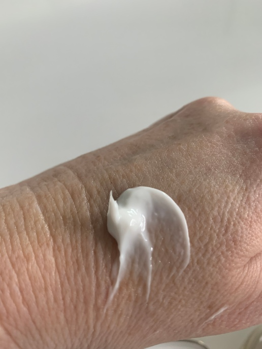 my hand before the cream