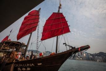 red junket boat - Aqualuna